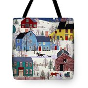 Winter Evening Fun Tote Bag