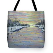 Winter Expression Sunrise Tote Bag