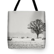 Winter Field Tote Bag