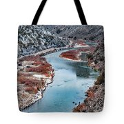 Winter Fisherman Tote Bag by Britt Runyon