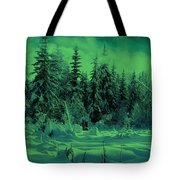 Winter Forest Dream At Dusk Tote Bag