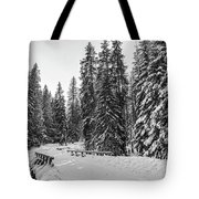 Winter Forest Journey Tote Bag