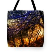 Winter Forest Sunset Oil Style Tote Bag