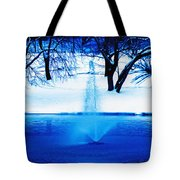 Winter Fountain 2 Tote Bag