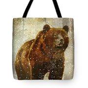 Winter Game Bear Tote Bag