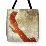 Winter Game Fox Tote Bag