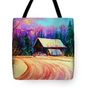 Winter Getaway Tote Bag