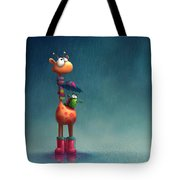 Winter Giraffe Tote Bag