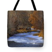Winter Gold On The Yakima River Tote Bag