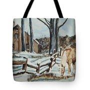 Winter Grazing  Tote Bag