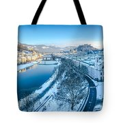 Winter Greetings From Salzburg Tote Bag