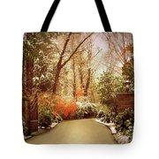 Winter Greets Autumn Tote Bag
