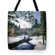 Winter Half Dome Tote Bag