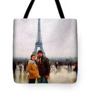 Winter Honeymoon In Paris Tote Bag