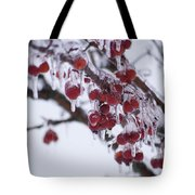 Winter Ice Berries Tote Bag