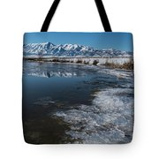 Winter Ice Flows Tote Bag