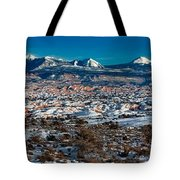 Winter In Arches National Park Tote Bag