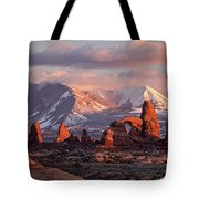 Winter In Arches Np Tote Bag by Wesley Aston