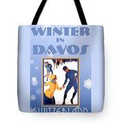 Winter In Davos Tote Bag