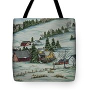 Winter In East Chatham Vermont Tote Bag
