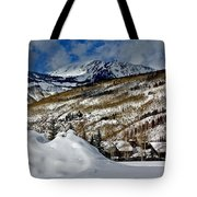 Winter In East Vail Tote Bag