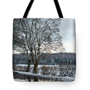 Winter In England, Uk Tote Bag