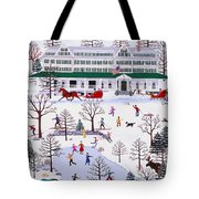 Winter In Jackson New Hampshire Tote Bag