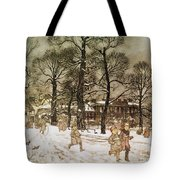 Winter In Kensington Gardens Tote Bag
