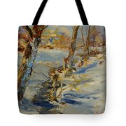 Winter In Mat Tote Bag