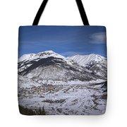 Winter In Silverton Colorado Tote Bag