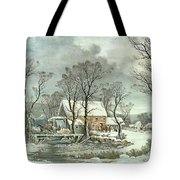 Winter In The Country - The Old Grist Mill Tote Bag
