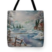 Winter In The Valley Tote Bag
