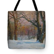 Winter In The Wood Tote Bag
