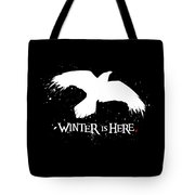 Winter Is Here - Large Raven Tote Bag