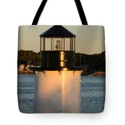 Winter Island Lighthouse At Sunset, Salem, Massachusetts Tote Bag