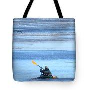 Winter Kayak Tote Bag
