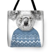 Winter Koala Tote Bag
