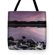 Winter Lake Frost Tote Bag