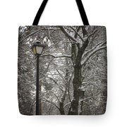 Winter Lamp Post Tote Bag
