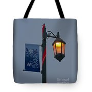 Winter Lamppost Tote Bag