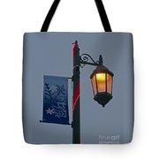 Winter Lamppost Tote Bag