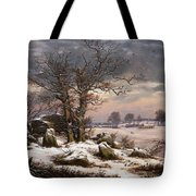 Winter Landscape. Near Vordingborg Tote Bag
