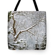 Winter Landscape Watercolor Tote Bag by Art Block Collections