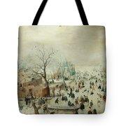 Winter Landscape With Ice Skaters1608 Tote Bag