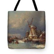 Winter Landscape With Mills Zaardam Tote Bag