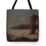 Winter Landscape With Ruined Arch Tote Bag