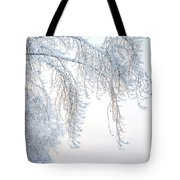 Winter Landscape With Snow-covered Trees Tote Bag
