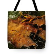 Winter Leaves In Ice Tote Bag