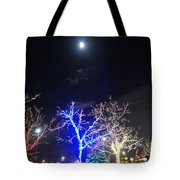 Winter Lights Full Moon Tote Bag
