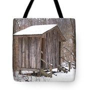 Winter Lookout In Oil Tote Bag